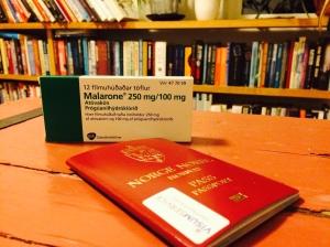 Pass og malariapiller hører med til planleggingen