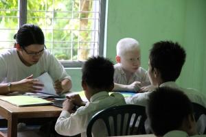 Bilde av barn i klasserom