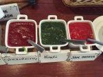 Marmelade i rødt, grønt og rosa